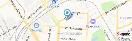 Детский сад №140 Золотая рыбка на карте Барнаула