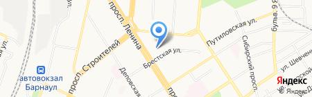 Сеть платежных терминалов РоссельхозБанк на карте Барнаула