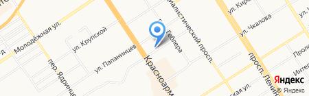 Центральная МУП на карте Барнаула