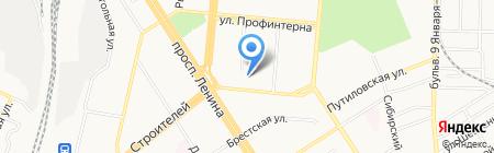 Скайвэй на карте Барнаула