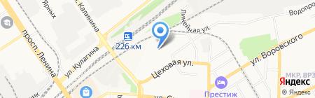 Шинный двор на карте Барнаула