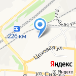 Азбука шин на карте Барнаула