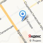 Азимут на карте Барнаула