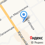 Бейкер-Стрит на карте Барнаула