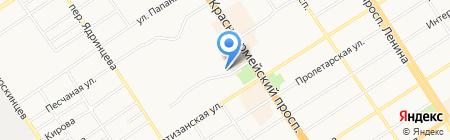 Торговая сеть по продаже овощей на карте Барнаула