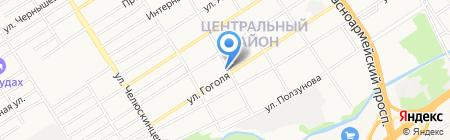 Шора на карте Барнаула