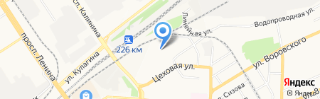 Пронто на карте Барнаула