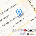 Вершина на карте Барнаула