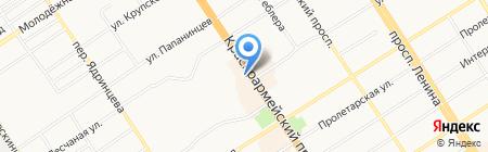 Zажигалка на карте Барнаула