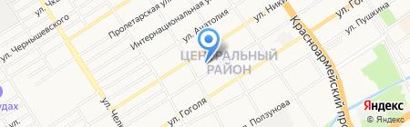 Аксоид на карте Барнаула