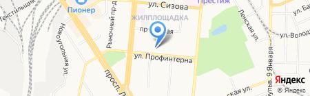 Пожарный рубеж Фоминых на карте Барнаула
