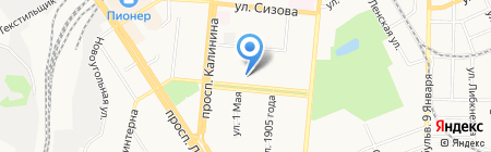 Порт на карте Барнаула
