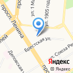 Русский Дом на карте Барнаула
