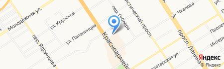 Кедровая бочка на карте Барнаула