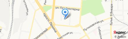 Детский сад №22 на карте Барнаула