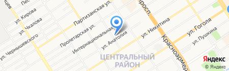 Самона на карте Барнаула
