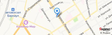 Вверх тормашками на карте Барнаула
