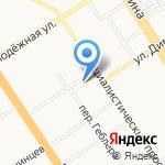 Жемчужина Алтая на карте Барнаула