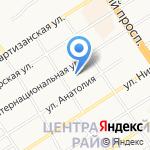 Натэкс на карте Барнаула