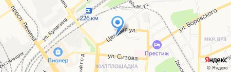Авариийно-диспетчерская служба на карте Барнаула