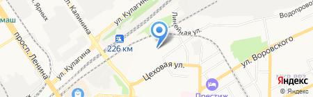 Теплострой на карте Барнаула