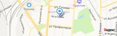 ДЮСШ №10 на карте Барнаула