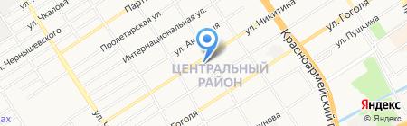 Дельфин на карте Барнаула