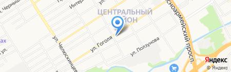 Фрикцион на карте Барнаула
