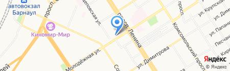 Арендатор-Алтай на карте Барнаула