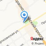 Комплимент на карте Барнаула