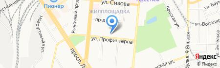 Центр перевозок на карте Барнаула