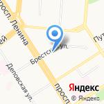 Авеон на карте Барнаула