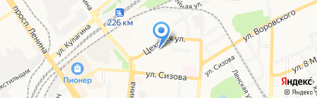 Автополюс на карте Барнаула