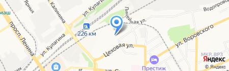РегионСнаб на карте Барнаула
