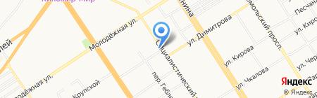 Ланч-2 на карте Барнаула