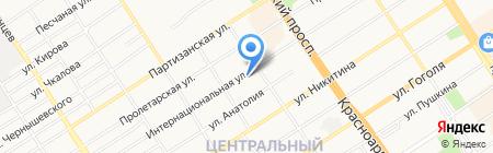 Хлеб-Соль на карте Барнаула