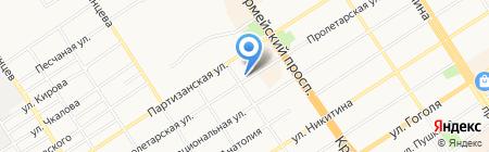 Слон в кармане на карте Барнаула