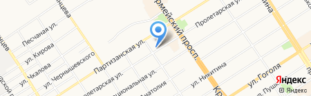 Дачный клуб на карте Барнаула