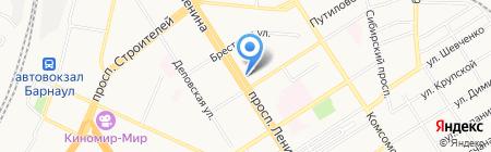 Леди на карте Барнаула