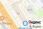 Схема проезда до компании Много мебели в Барнауле