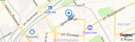 Центр социального обеспечения Военного комиссариата Алтайского края на карте Барнаула