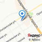 Одилак на карте Барнаула
