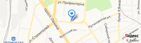 Салон хорошего зрения плюс-минус на карте Барнаула