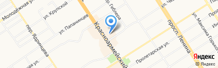 Паллада Джинс на карте Барнаула
