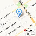Краевой центр дезинфекции на карте Барнаула