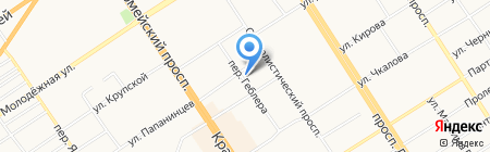 Турпрогноз на карте Барнаула