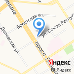 Книжный Дворъ на карте Барнаула