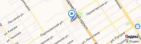 Лесная на карте Барнаула