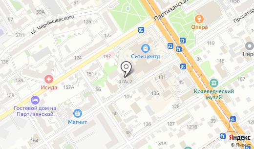 Лесная. Схема проезда в Барнауле