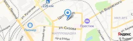 ПЖЭТ №2 Октябрьского района на карте Барнаула